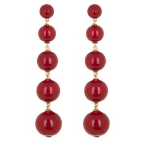 Kate Spade Red Statement Earrings 💥NWT💥